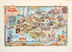 The Isle of Wight, 1970s - original vintage poster by B. Coutts listed on AntikBar.co.uk