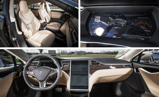2015 Tesla Model S 70D interior images