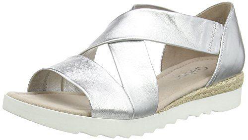 Gabor 42.711 Damen Sandalen, Silber (10 silber), 37.5 EU - http://on-line-kaufen.de/gabor/37-5-eu-gabor-42-711-damen-sandalen