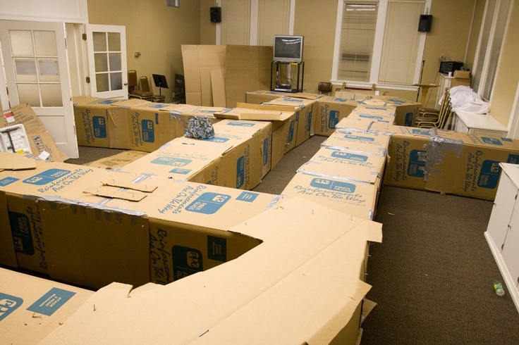 Giant Cardboard Box Maze: Halloween Projects, Giant Houses, Cardboard Boxes, Boxes Maze, Cardboard Maze, Parties Ideas, Halloween Games, Moving Boxes, Kid