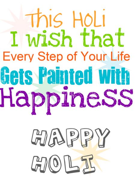 Holi wishes Free Printable card.. #India #Holi