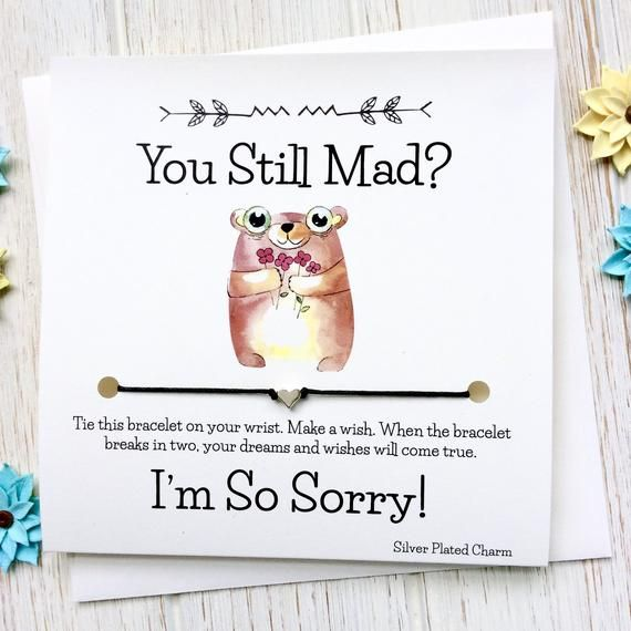 Make Up Card 152C Relationship Card I/'m Sorry Card Ouch Apology Card