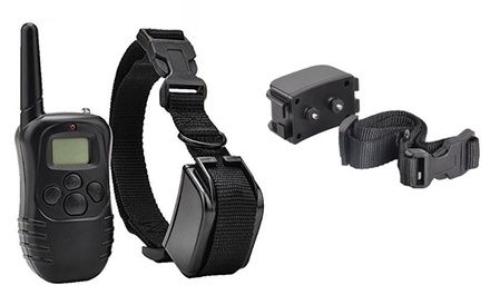 Weatherproof dog training collar and remote provides various levels of correction for different phases of training