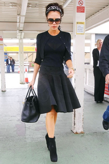 very posh in an all black outfit