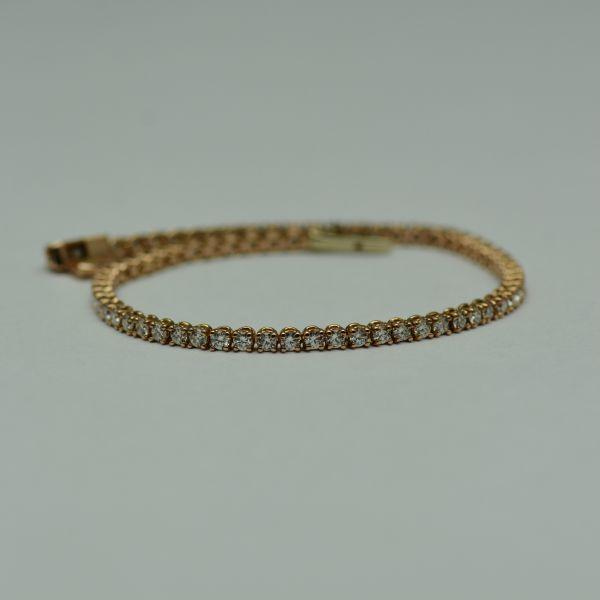 Bratara de aur roz cu diamante  #bratariauralb #brataricudiamante #diamante #diamondbracelets #diamonds