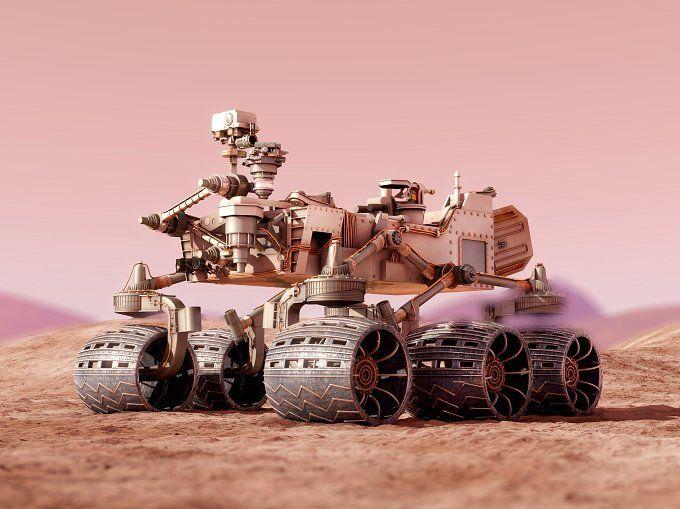 Curiosity Rover Mars 3d model vray by konstantin.ermolaev