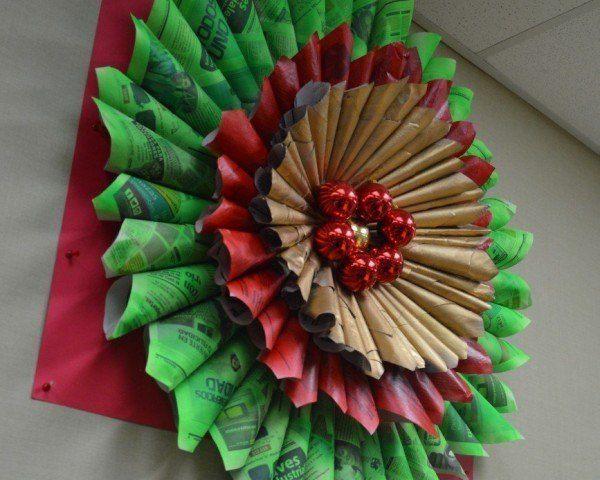 As 25 melhores ideias de decoracion navide a con reciclaje - Decoraciones navidenas con reciclaje ...