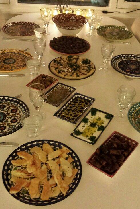 Serving my guests my favorite Palestinian food