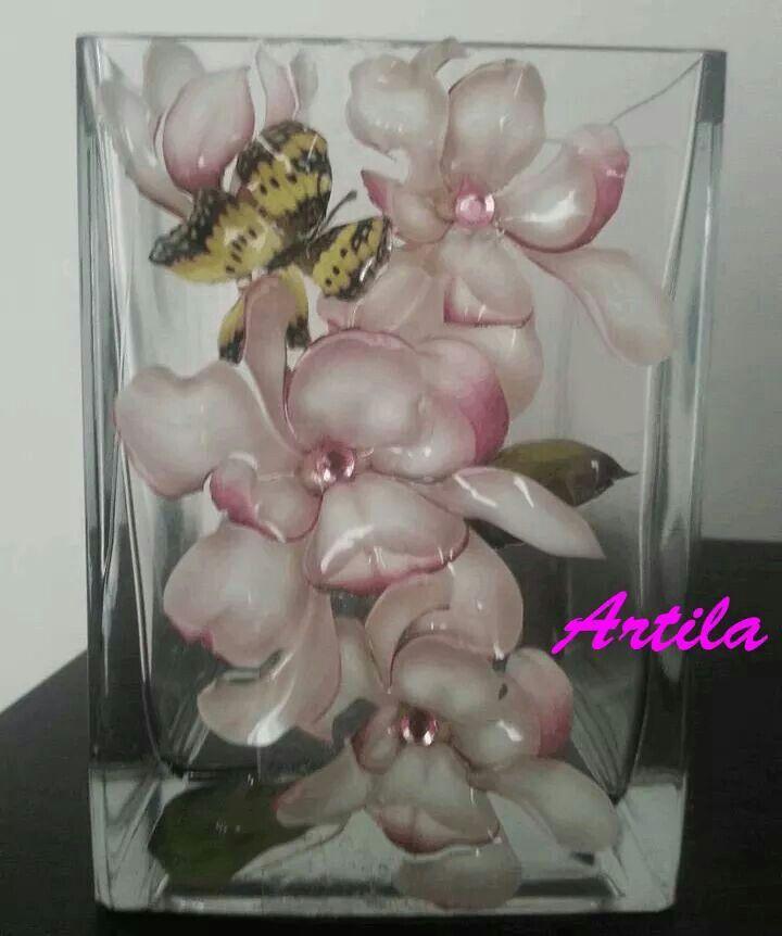 vaso / bomboniera con sospeso trasparente