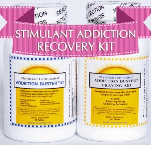 Stimulant Addiction Recovery Kit - Bundle - 2 Items: Addiction Buster Craving Aid and Addiction Buster #2 - Natural Herbal Stimulant Addiction Treatment for Addiction to Stimulants (Caffeine, Coffee, Soda Pop, Cocaine, Crack, Crystal Meth, Methamphetamine, Adderall, Ritalin, Lsd, Pcp) by Addiction Buster. Save 25 Off!. $59.95. 30 day money back guarantee physician formulated herbal addiction therapy made from all-natural and non-addicting ingredients. Formulated with specific ratios to en...
