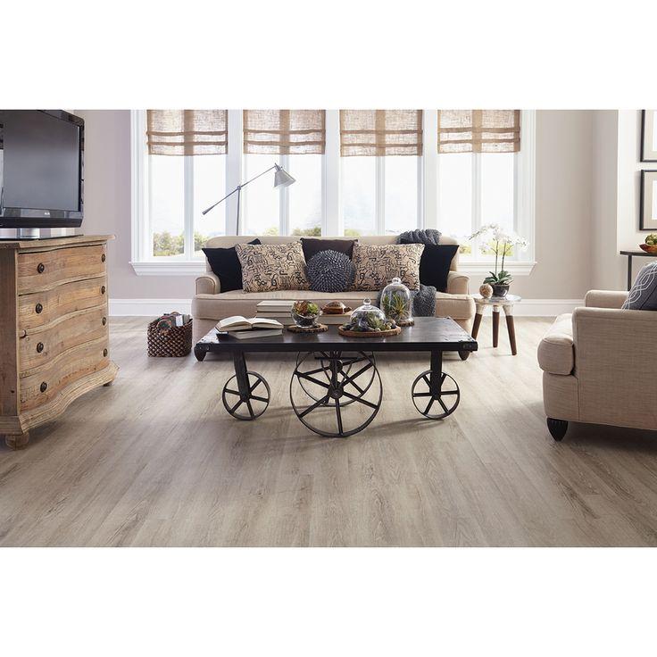 shop stainmaster 10piece 574in x 4774in washed oak cottage vinyl planksvinyl
