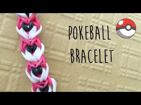 Rainbow Loom Pokemon Pokeball Bracelet Tutorial