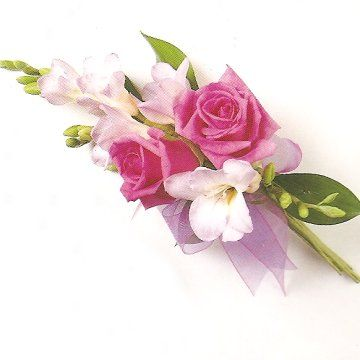 pink rose corsage - maybe mothers or grandmothers corsage