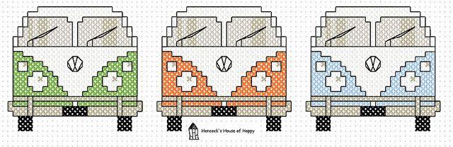 VW Van Cross Stitch Chart by even-star, via Flickr