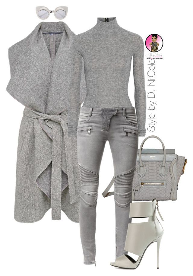 """Untitled #2717"" by stylebydnicole ❤ liked on Polyvore featuring French Connection, T By Alexander Wang, Balmain and Giuseppe Zanotti"