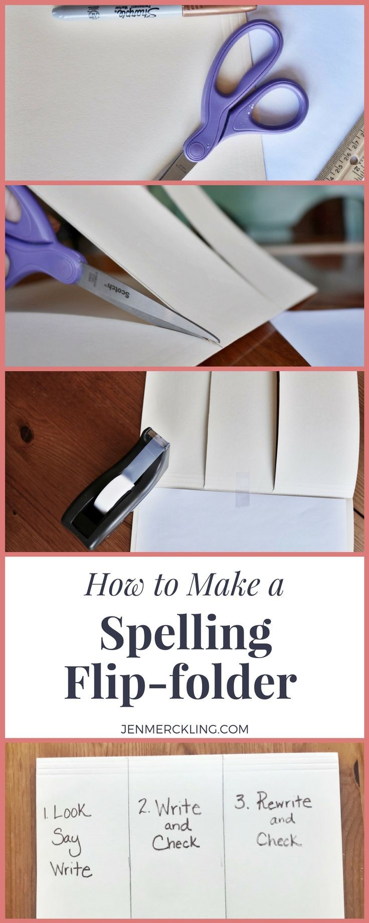 Spelling Flip-Folders--Try this easy and effective way for your child to practice spelling words independently at home! #homeschool #spelling #spellingpractice #flipfolder #independentpractice