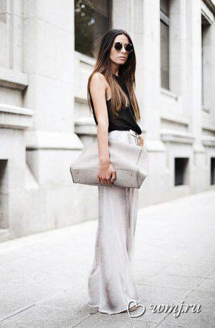 Широкие брюки из шелка