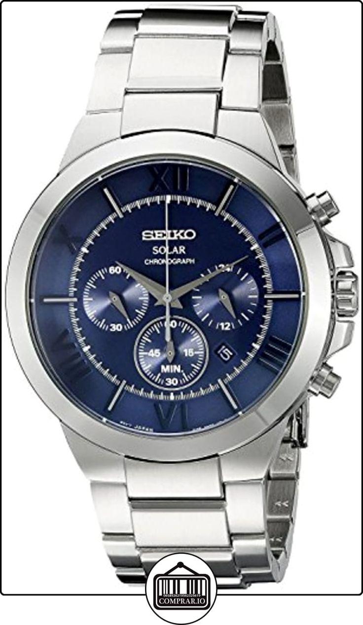 SeikoSSC281P9 –Reloj solar con cronógrafo, color plata y negro de  ✿ Relojes para hombre - (Gama media/alta) ✿