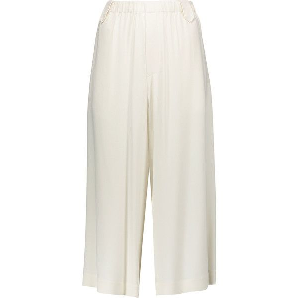 Helmut Lang Crepe culottes ($455) ❤ liked on Polyvore featuring pants and capris