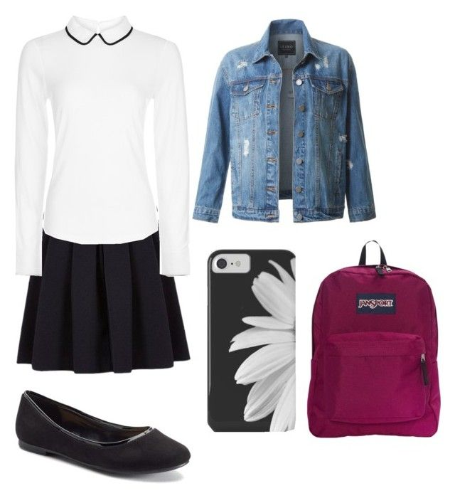"""uniform"" by kehichabelle on Polyvore featuring George, Hobbs, LC Lauren Conrad, JanSport and LE3NO"