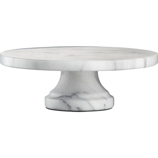 An affordable marble cake stand, finally! French Kitchen Pedestal crateandbarrel