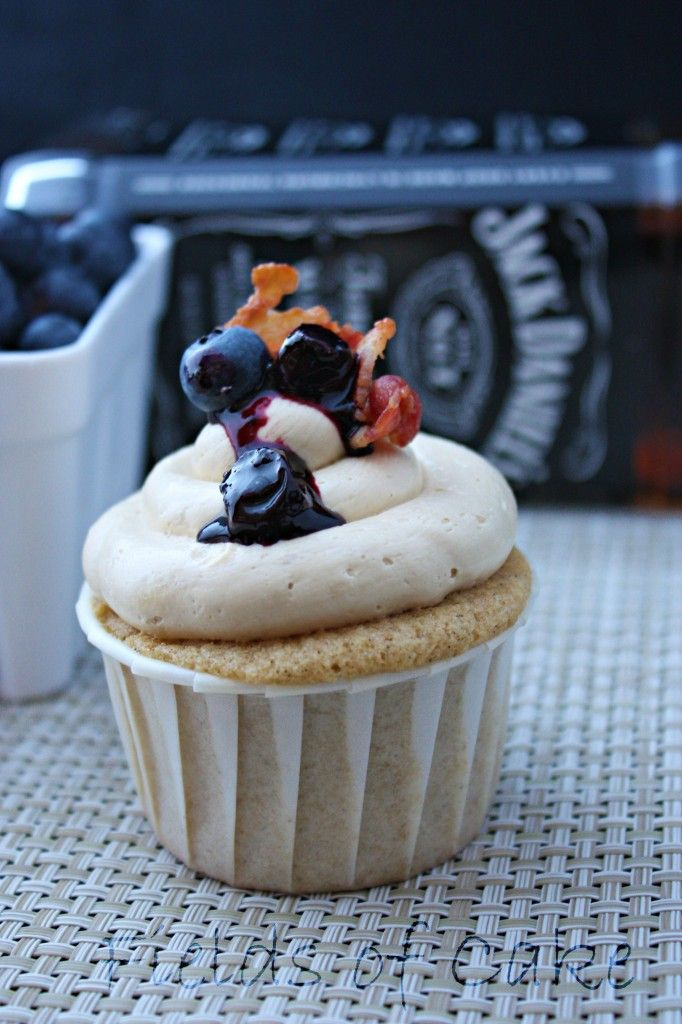 Blueberry Pancake Cupcake filled with Blueberry Whiskey Sauce and ...