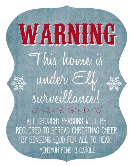 Get this FREE Elf Surveillance Printable! Also, get 15 more FREE Elf on the Shelf Printables on www.prettymyparty.com.