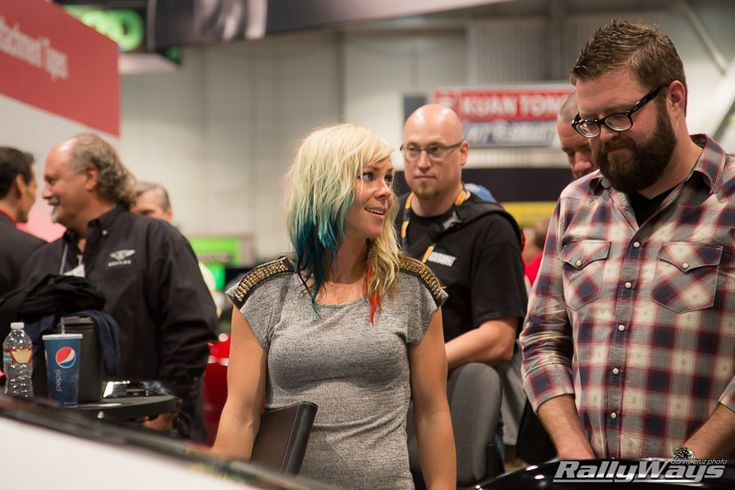 Rutledge Wood and Jessi Combs 3M Booth - SEMA 2014 #sema2014 - Click for the full story.