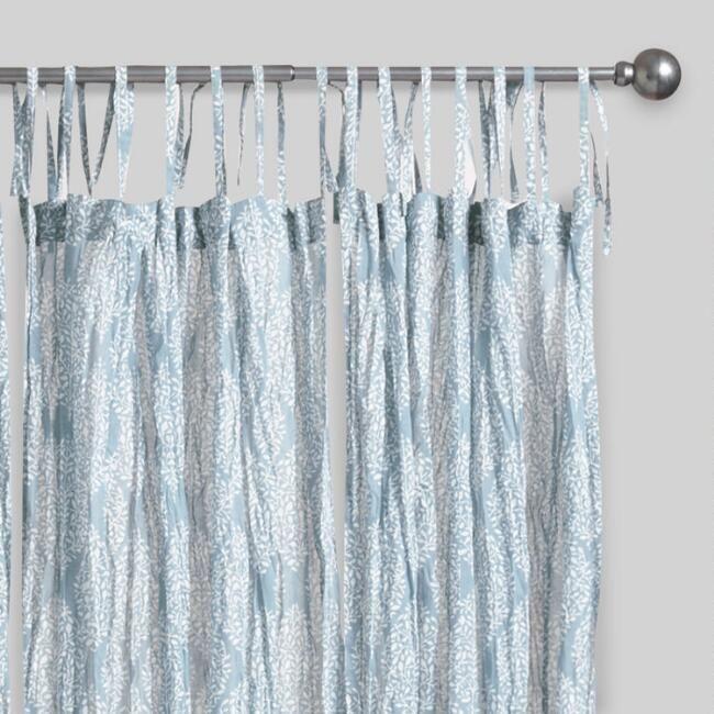 Blue Kashvi Crinkle Sheer Voile Curtains Set of 2 - Gonna use it as a bathroom curtain