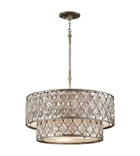 Lighting Warehouse Hendrik Potgieter: Feiss F2707/6BUS Lucia 6 Light 25 Inch Burnished Silver