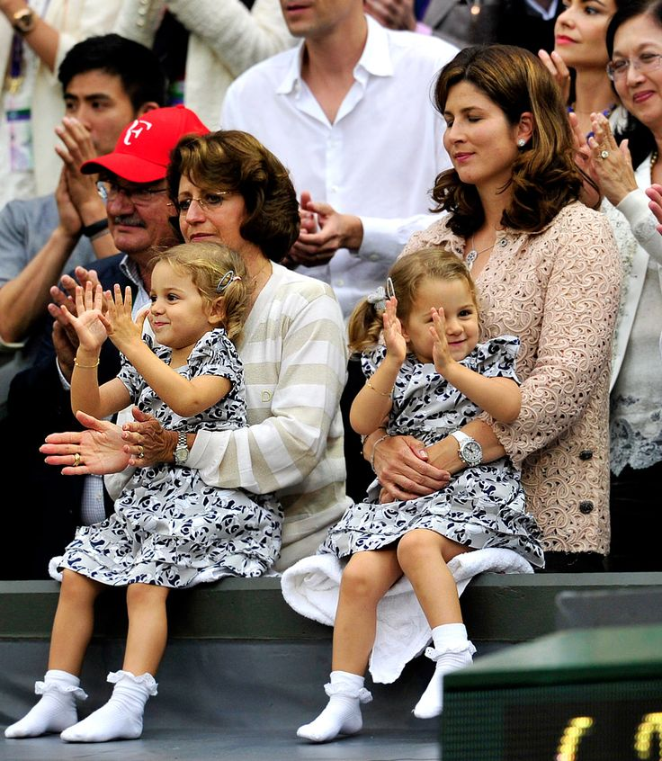 Roger Federer's twin two year old daughters Myla Rose and Charlene Riva.  So cute!