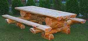 Cedar Log Furniture Plans | Handcrafted Rustic Cedar Log Patio Furniture  And Picnic Tables.