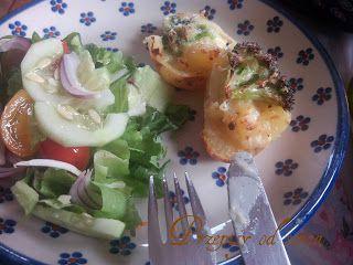Double baked potatoes with broccoli / Przepisy od serca: Pieczone ziemniaki zapiekane z brokułami