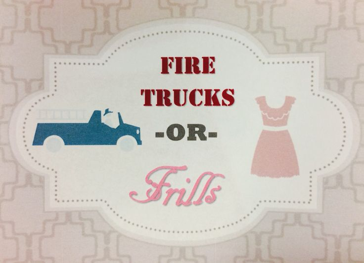 Gender reveal party for family of a firefighter. Firetrucks or frills?