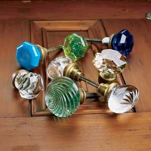 Antique glass door knobs
