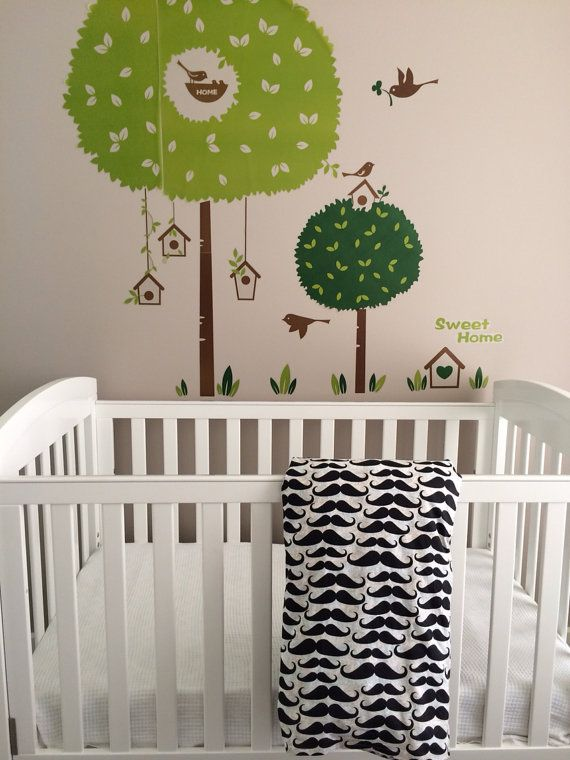 Custom Cot quilt cover stache & chevron by BabyRainbowz on Etsy