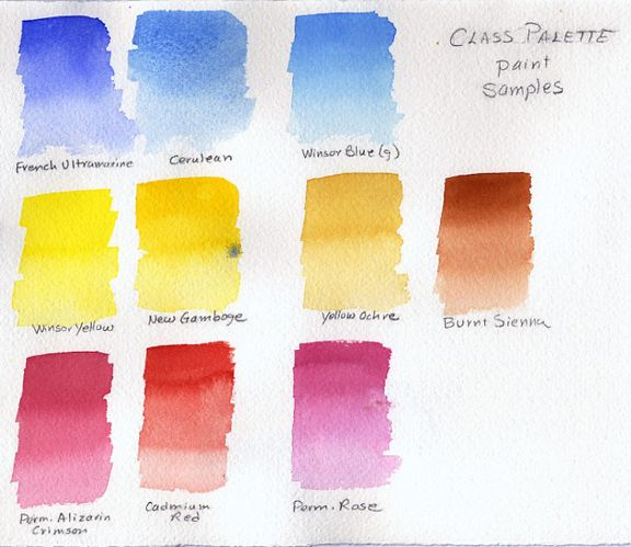 34 best images about watercolor palettes on pinterest for Water colouring techniques