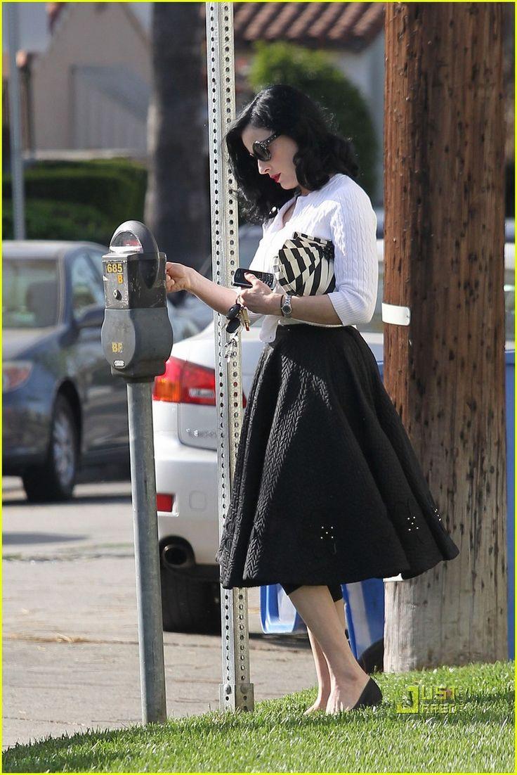 dita von tease street style. Running errands... Love her, always pretty