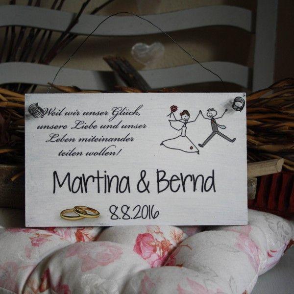 Shabby Chic Holzschild - Hochzeits-ShabbySchild mit Spruch