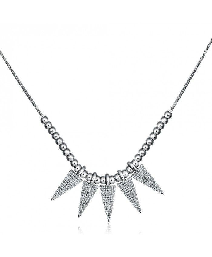 Ouruora 5 Pcs Taper Pendant Beaded Necklace