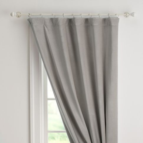 Velvet Drape With Blackout Lining | PBteen: Curtains Rings, Pbteen, Pottery Barns Teen, Blackout Curtains, Window Treatments, Velvet Draping, Pb Teen, Bedrooms Ideas, Bedrooms Curtains