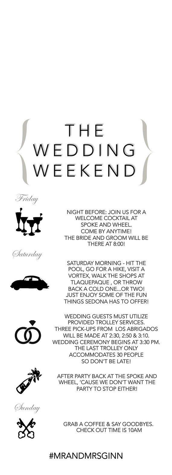 Best 25+ Wedding weekend itinerary ideas on Pinterest