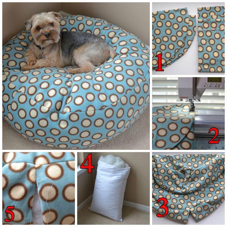 Las 25 mejores ideas sobre cama para mascotas en pinterest - Como hacer camitas para perros ...