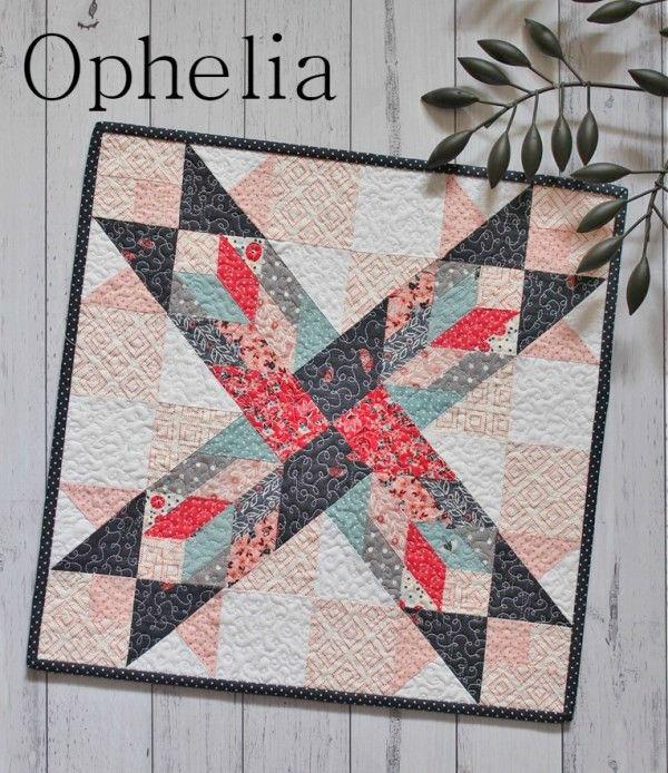 Threadbare Creations- Ophelia Mini Quilt PDF Pattern