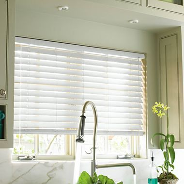 "$170 for 54"" w x 45"" l Custom 2"" Smart Faux-wood Horizontal Blinds - jcpenney"