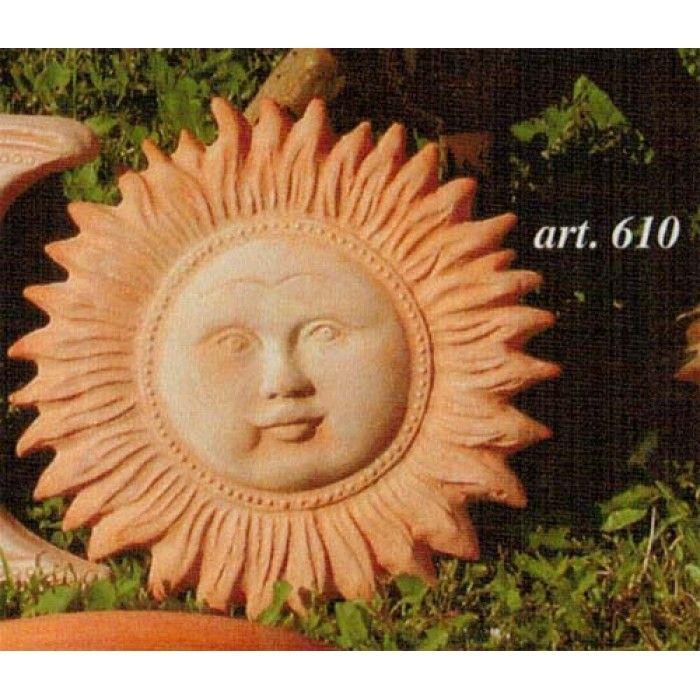 Sole in terracotta da appendere