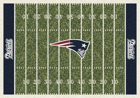New England Patriots Football Field Rug - OneStopFanShop