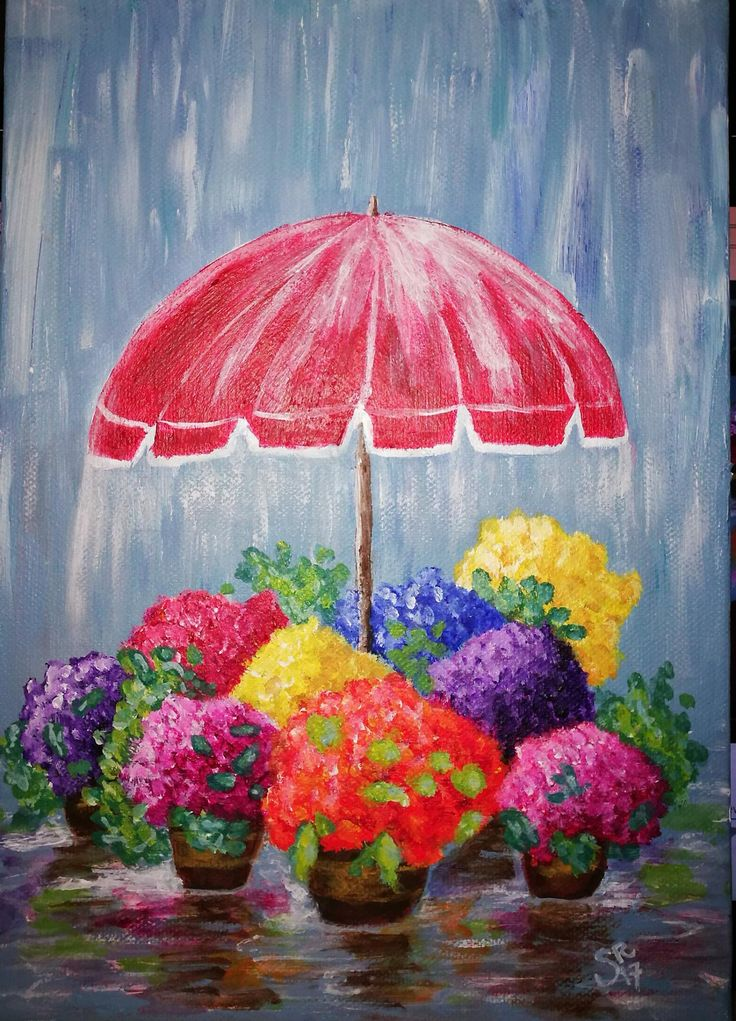 Quot Flowers In The Rain Quot Beautifully Painted By Sami Rowley