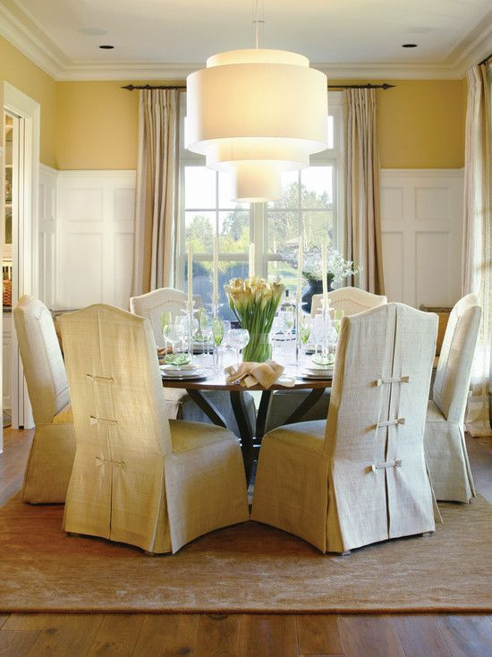 best 20+ dining room chair slipcovers ideas on pinterest