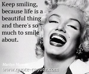 Smile quotes - Quote Coyote via Relatably.com